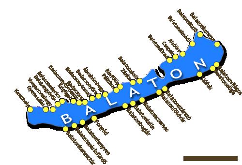 balaton térkép északi part részletes Balaton térkép, Balatoni szálláshelyekkel, térképes szálláskereső  balaton térkép északi part részletes